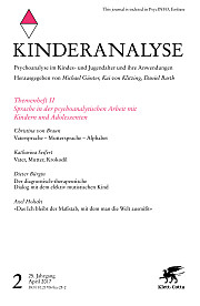 Deckblatt Kinderanalyse Heft 02 / April 2017